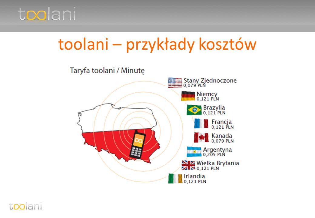 toolani – przykłady kosztów
