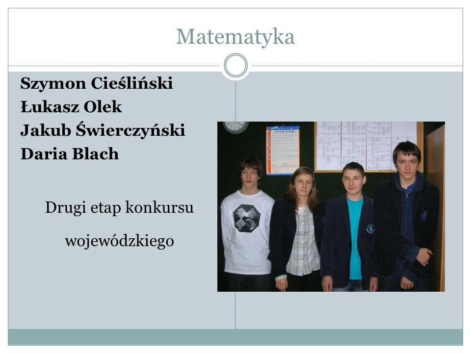 Matematyka Łukasz Olek Laureat konkursu Alfik 2010