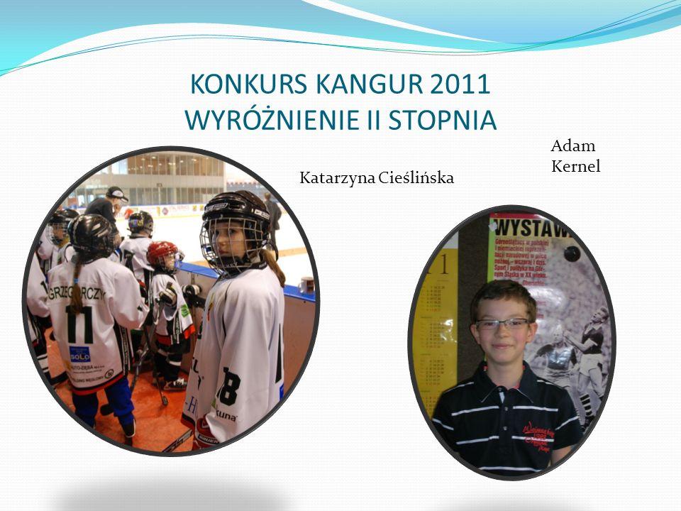 KONKURS KANGUR 2011 WYRÓŻNIENIE II STOPNIA Katarzyna Cieślińska Adam Kernel