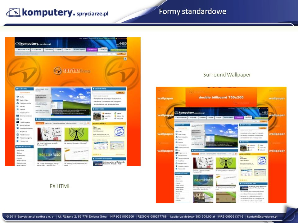 FX HTML Surround Wallpaper Formy standardowe