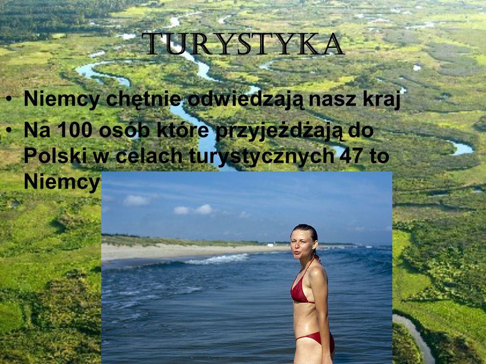 Turystyka Niemcy chętnie odwiedzają nasz kraj Na 100 osób które przyjeżdżają do Polski w celach turystycznych 47 to Niemcy