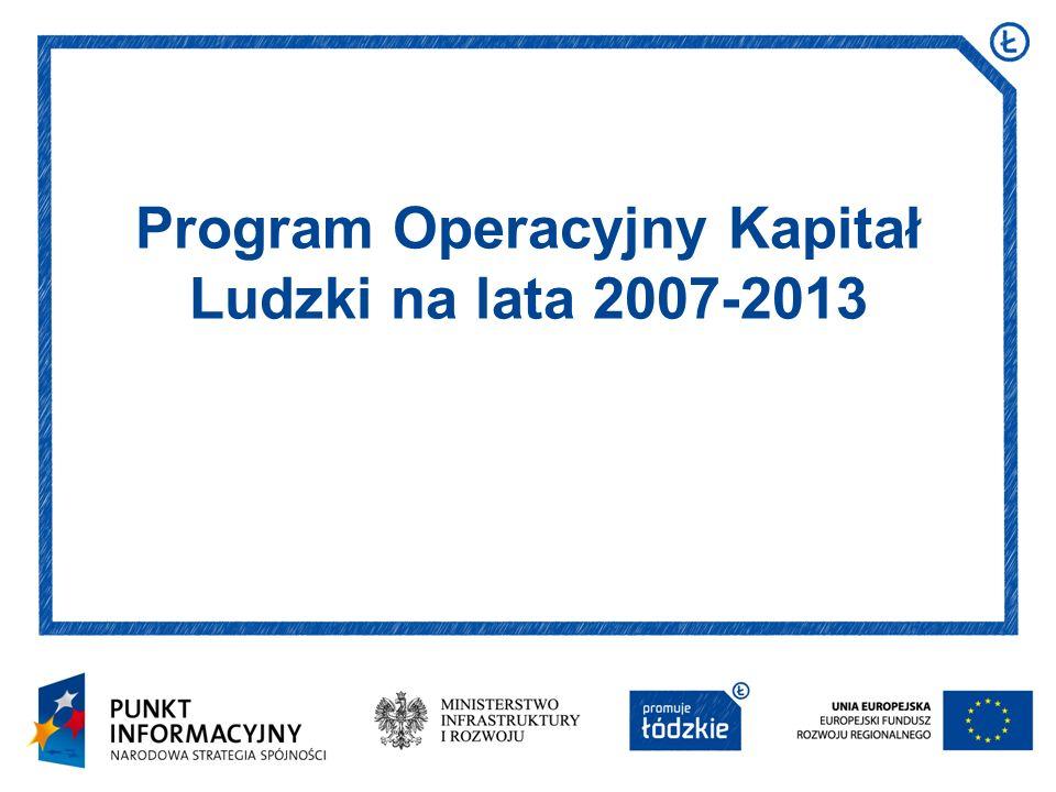 Program Operacyjny Kapitał Ludzki na lata 2007-2013