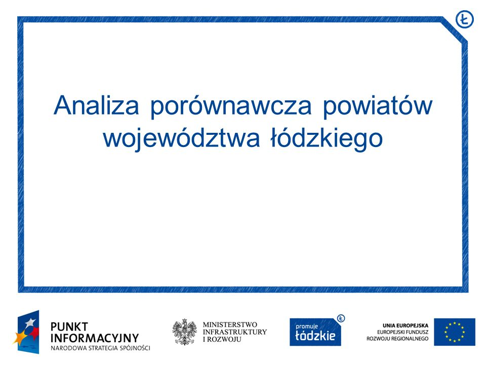 Analiza porównawcza powiatów województwa łódzkiego