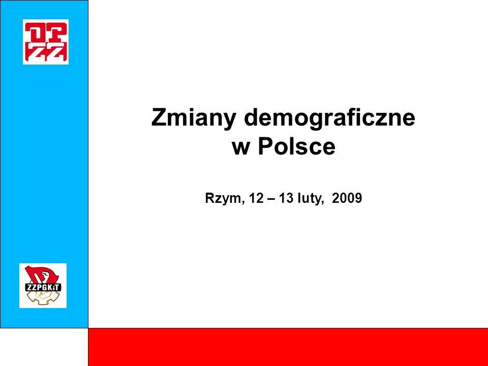 NEWTON – Spotkanie w Rzymie, luty 2009 Populacja w Polsce (w tyś.) Źródło: Eurostat