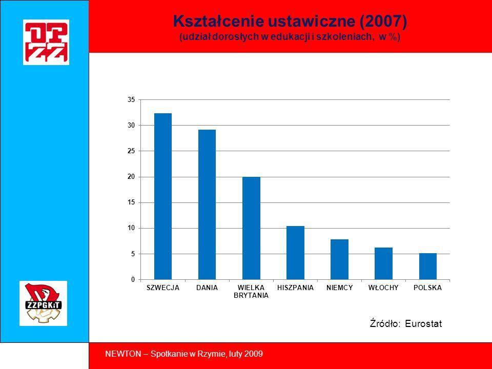 NEWTON – Spotkanie w Rzymie, luty 2009 Oferty pracy na rynku w Polsce (drugi kw.
