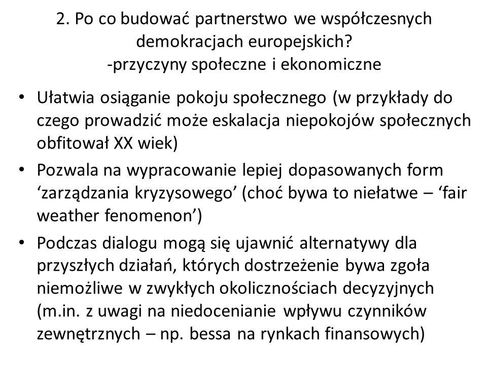 2. Po co budować partnerstwo we współczesnych demokracjach europejskich.