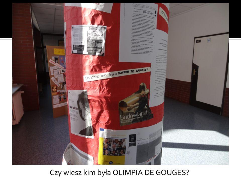 Czy wiesz kim była OLIMPIA DE GOUGES?