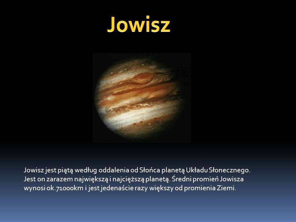 Jowisz jest piątą według oddalenia od Słońca planetą Układu Słonecznego. Jest on zarazem największą i najcięższą planetą. Średni promień Jowisza wynos