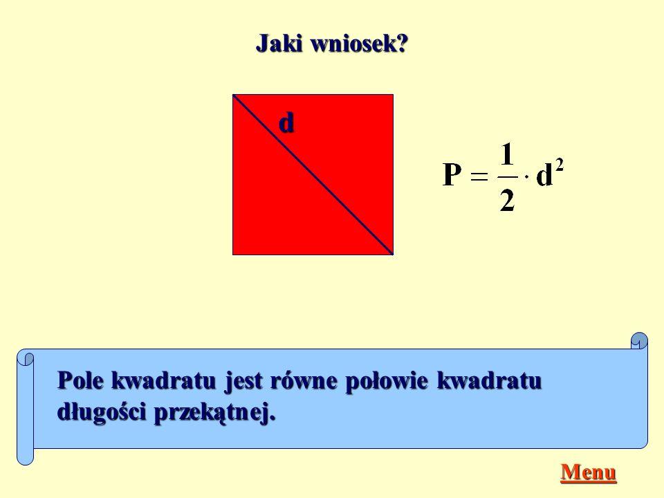 Pole rombu Romb jest równoległobokiem, którego wszystkie boki mają jednakową długość, czyli...