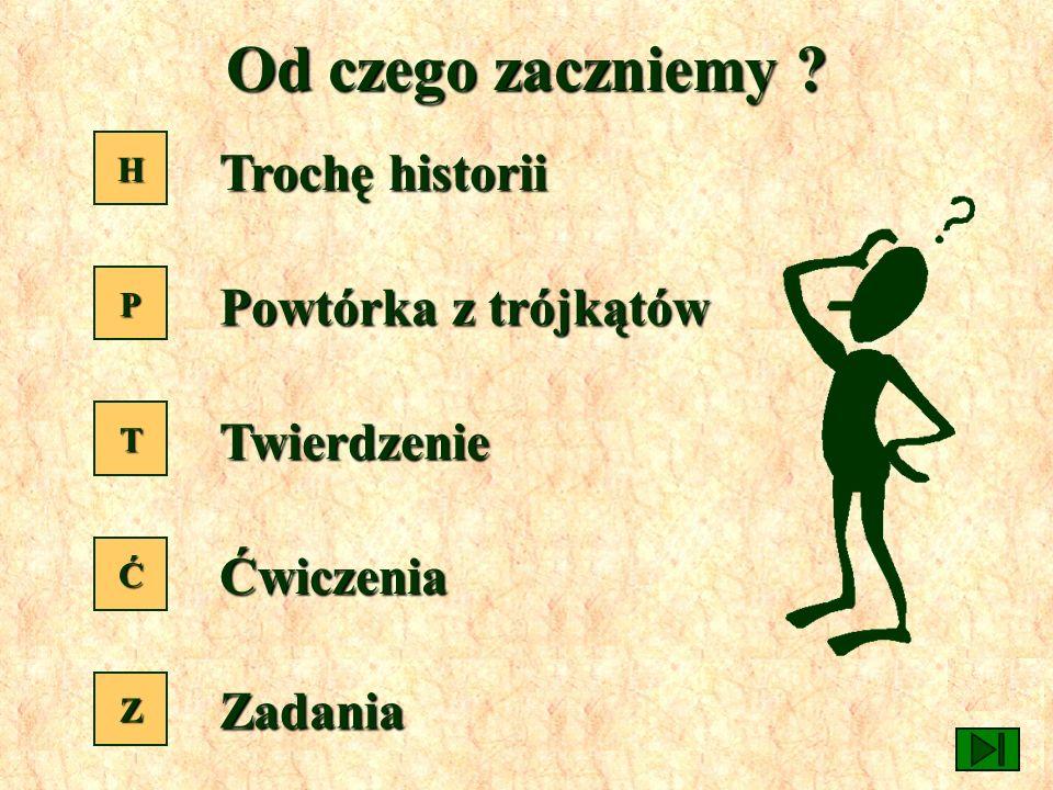 Menu Twierdzenie Pitagorasa a b c Anna Gadomska Szkoła Podstawowa Nr 79 Łódź