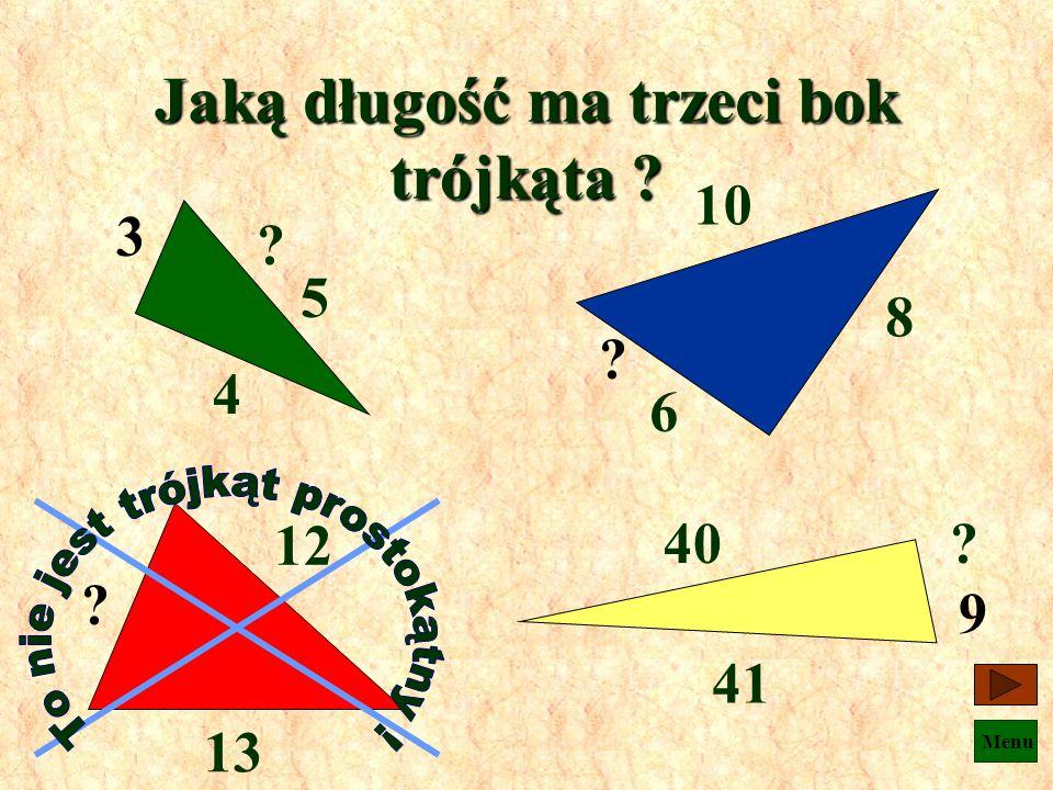 Menu a b c a 2 + b 2 = c 2 k m l k 2 + l 2 = m 2 g z e z 2 + e 2 = g 2 x y z x 2 + y 2 = z 2