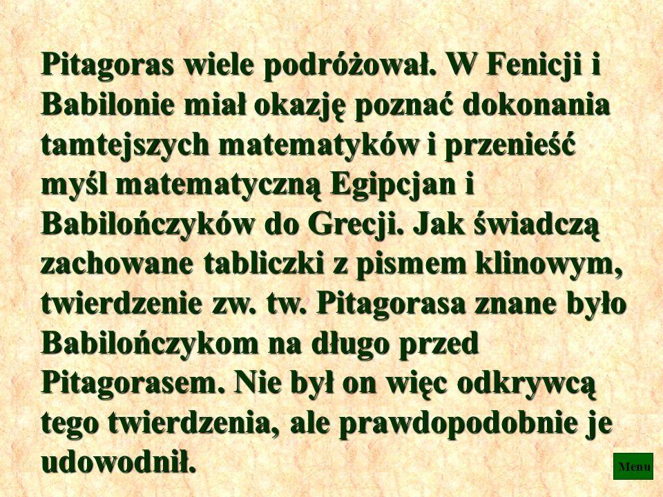 Pitagoras był greckim matematykiem i filozofem, który przyczynił się znacznie do rozwoju matematyki i astronomii. Niestety nie pozostawił żadnych prac