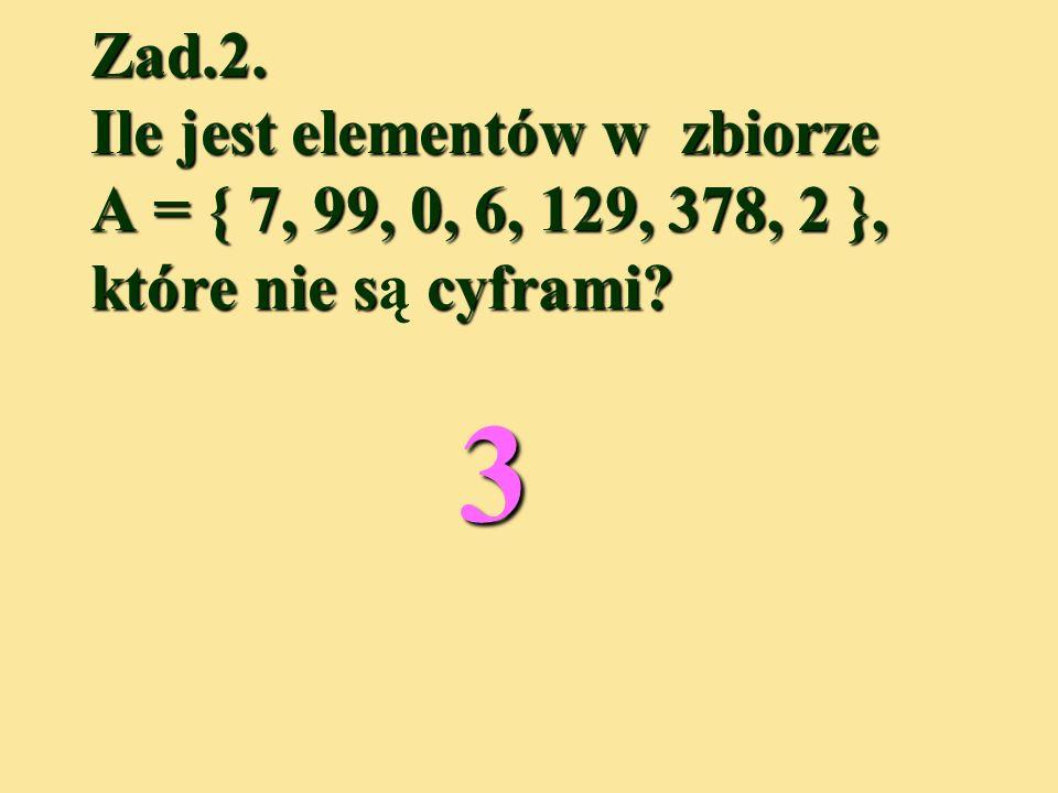 Zad.1. Za pomocą ilu różnych cyfr zostały zapisane liczby? a)7382 b)30565 c)11397001 73823056511397001 445