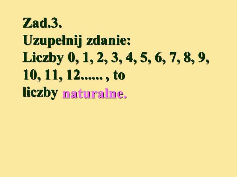 Zad.2. Ile jest elementów w zbiorze A = { 7, 99, 0, 6, 129, 378, 2 }, które nie s cyframi? Zad.2. Ile jest elementów w zbiorze A = { 7, 99, 0, 6, 129,