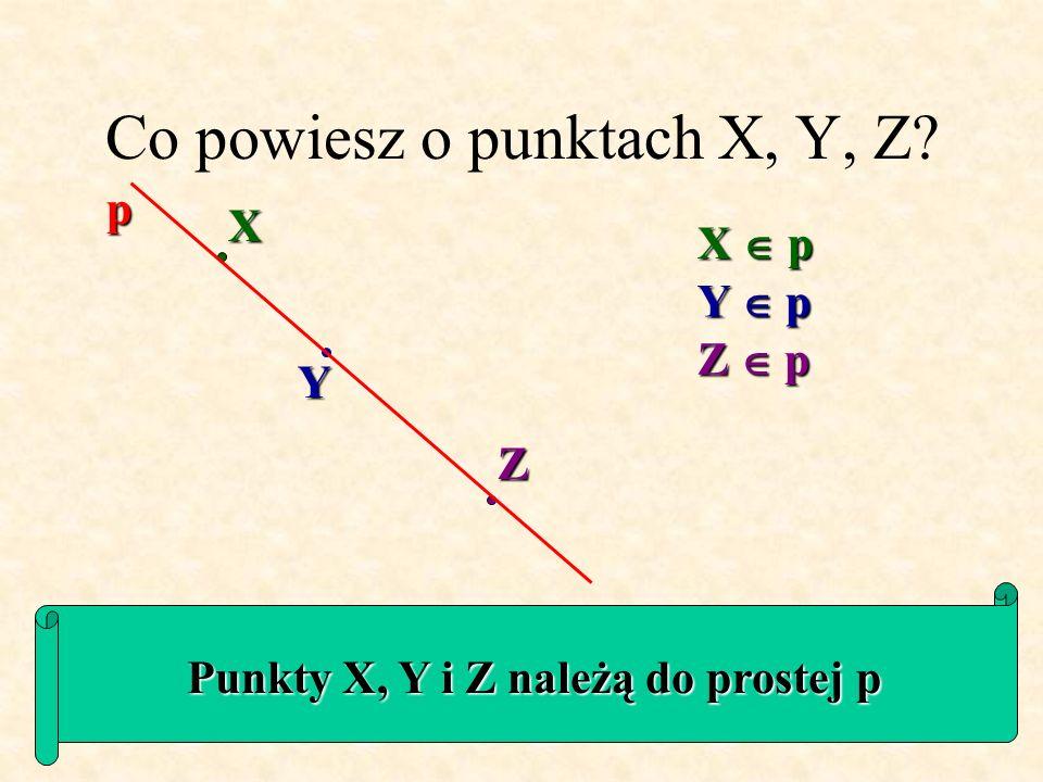 Ile prostych można przeprowadzić przez dwa różne punkty P i R? P Przez dwa różne punkty przechodzi dokładnie jedna prosta R