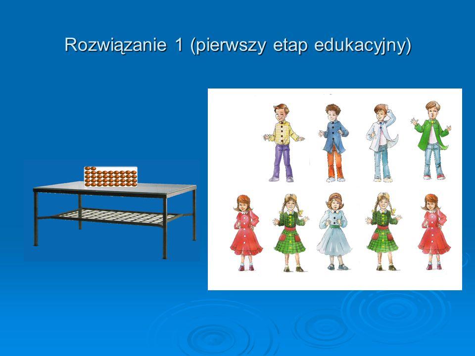 Rozwiązanie 1 (pierwszy etap edukacyjny)