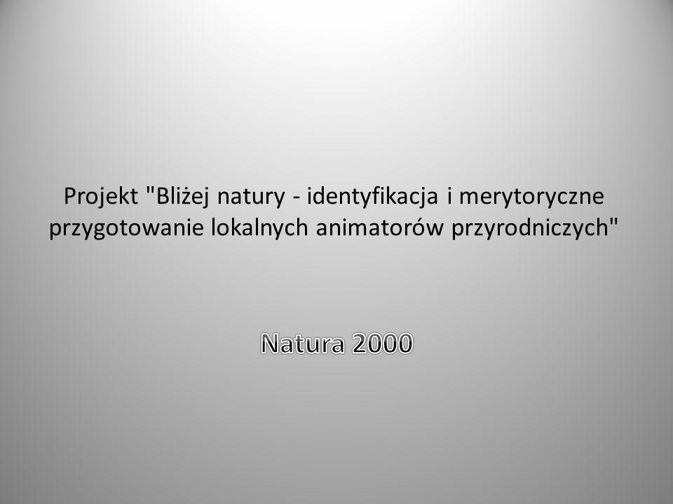 Projekt Bliżej natury - identyfikacja i merytoryczne przygotowanie lokalnych animatorów przyrodniczych