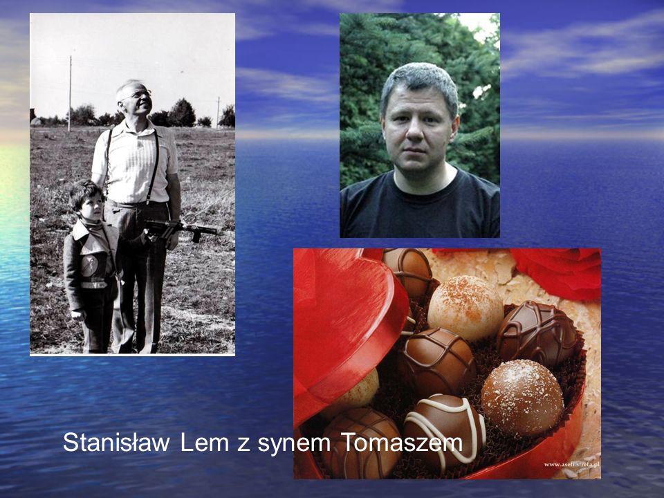 Stanisław Lem z synem Tomaszem