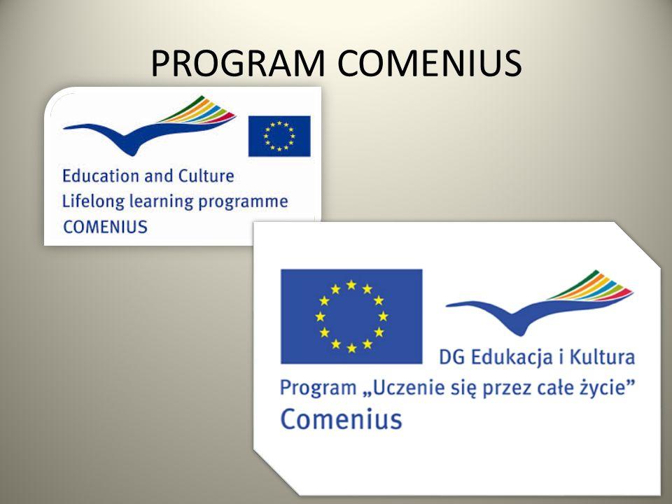 Cel programu Comenius rozwijanie wśród kadry nauczycielskiej wiedzy o różnorodności kultur i języków europejskich oraz zrozumienia jej wartości; pomaganie młodym ludziom w nabyciu podstawowych umiejętności i kompetencji życiowych niezbędnych dla rozwoju osobistego, przyszłego zatrudnienia i aktywnego obywatelstwa europejskiego.