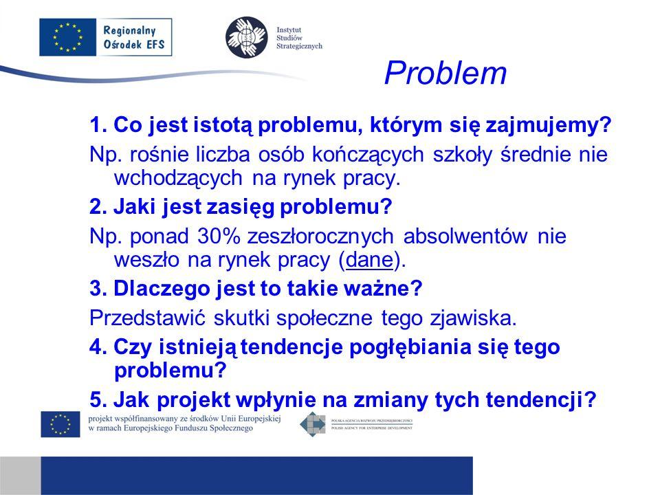Problem 1. Co jest istotą problemu, którym się zajmujemy.