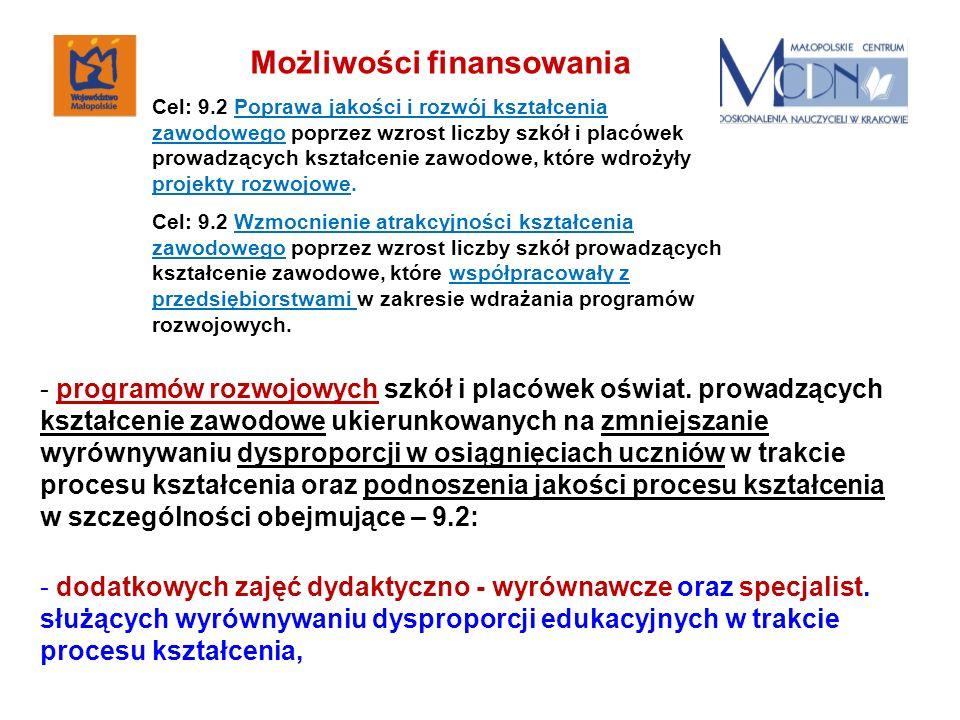 - programów rozwojowych szkół i placówek oświat.