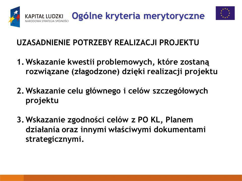 UZASADNIENIE POTRZEBY REALIZACJI PROJEKTU 1.Wskazanie kwestii problemowych, które zostaną rozwiązane (złagodzone) dzięki realizacji projektu 2.Wskazan