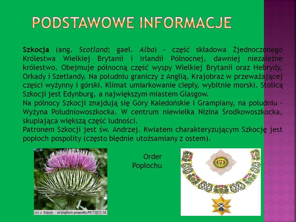 Szkocja (ang. Scotland; gael. Alba) – część składowa Zjednoczonego Królestwa Wielkiej Brytanii i Irlandii Północnej, dawniej niezależne królestwo. Obe