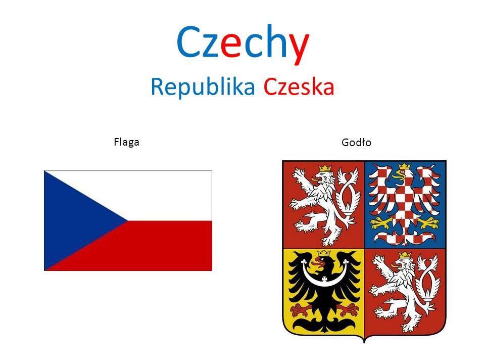 Czechy Republika Czeska Flaga Godło