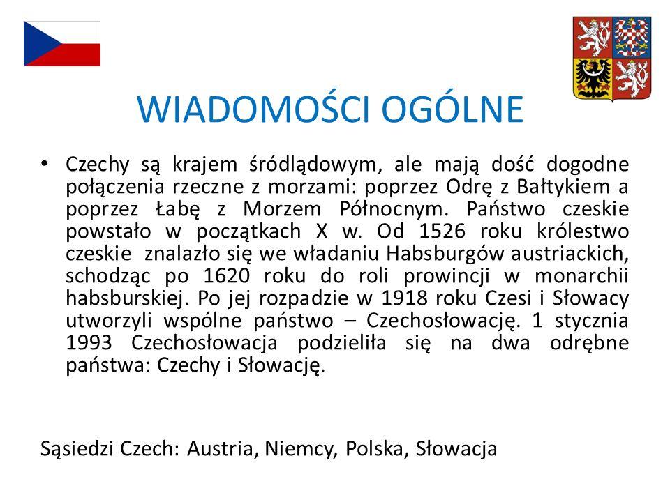 Obszar Czech zajmują dwie jednostki strukturalne: Masyw Czeski i na wschodzie mały fragment Karpat.