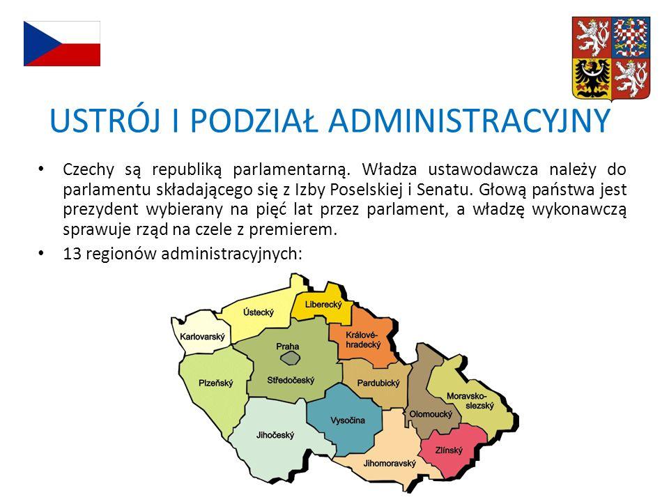 Czechy są republiką parlamentarną. Władza ustawodawcza należy do parlamentu składającego się z Izby Poselskiej i Senatu. Głową państwa jest prezydent
