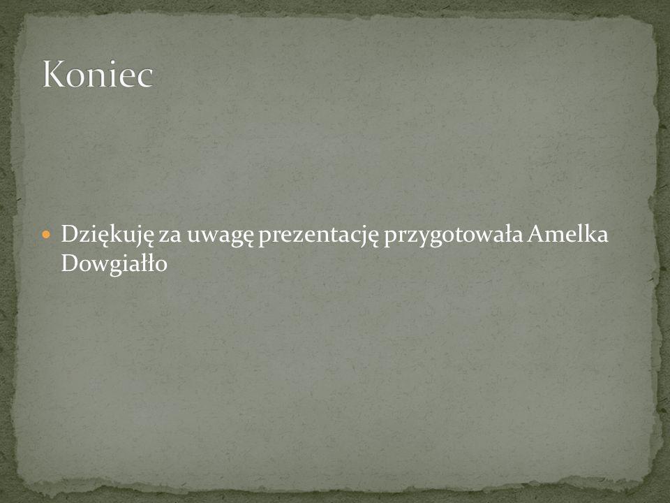 Dziękuję za uwagę prezentację przygotowała Amelka Dowgiałło