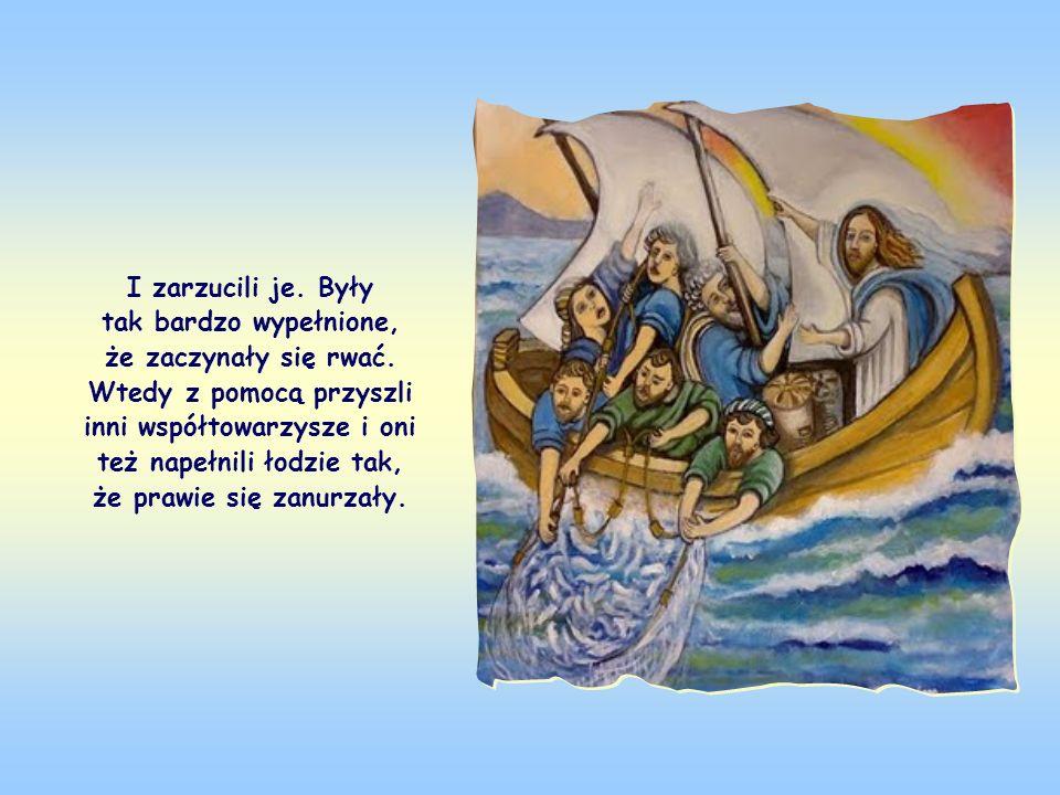 Jezus skończywszy nauczanie, siedząc w łodzi Szymona powiedział do niego i jego towarzyszy, aby zarzucili sieci w morze. Szymon odpowiedział, że przez