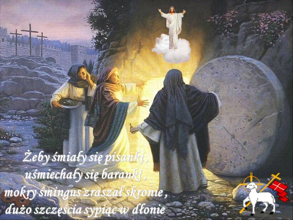 Życzę aby Święta Wielkanocne ożywiły nadzieję w Boską moc Zmartwychwstałego Pana, by stały się nowym źródłem umocnienia w wierze i przyniosły nową radość i pokój.