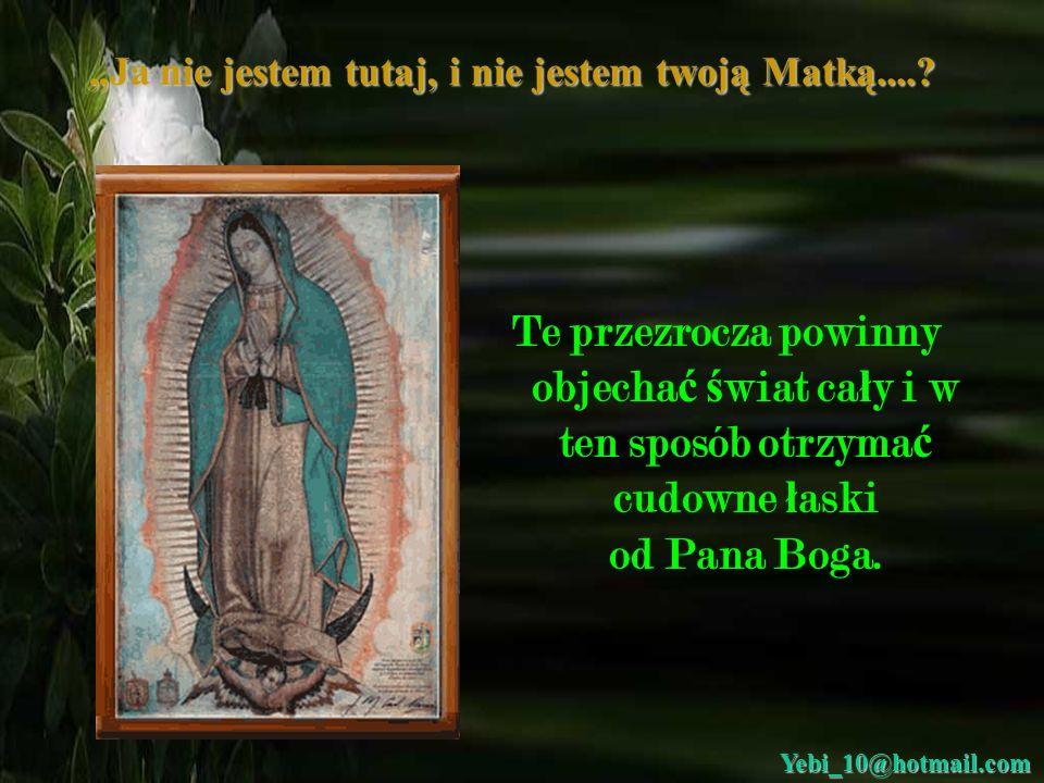 Drodzy moi przyjaciele, musz ę wam powiedzie ć, ż e Matka Bo ż a z Guadalupy jest pot ęż na w swojej mocy i zawsze jest z nami gdziekolwiek b ę dziemy