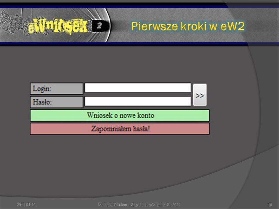 2011-01-1510Mateusz Cwalina - Szkolenie eWniosek 2 - 2011