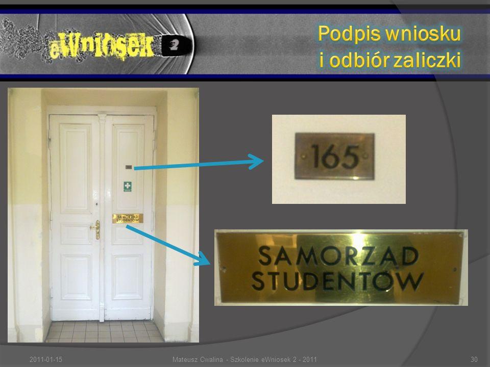 2011-01-1530Mateusz Cwalina - Szkolenie eWniosek 2 - 2011