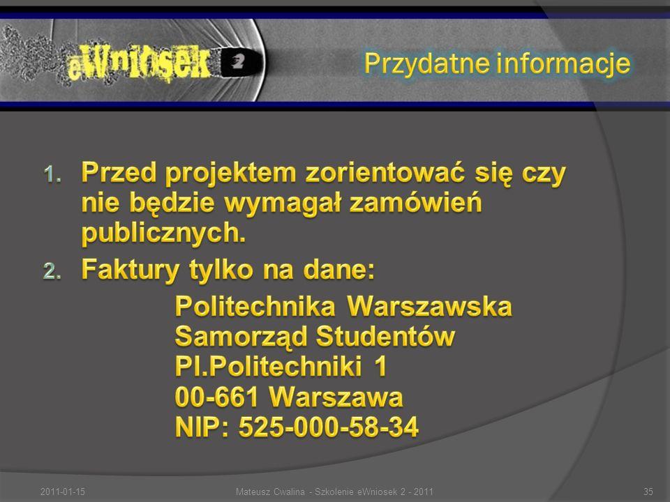 2011-01-1535Mateusz Cwalina - Szkolenie eWniosek 2 - 2011