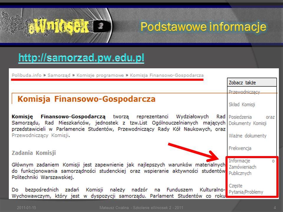 2011-01-154Mateusz Cwalina - Szkolenie eWniosek 2 - 2011