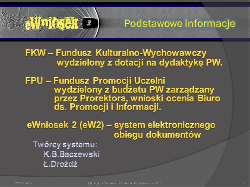 2011-01-155Mateusz Cwalina - Szkolenie eWniosek 2 - 2011