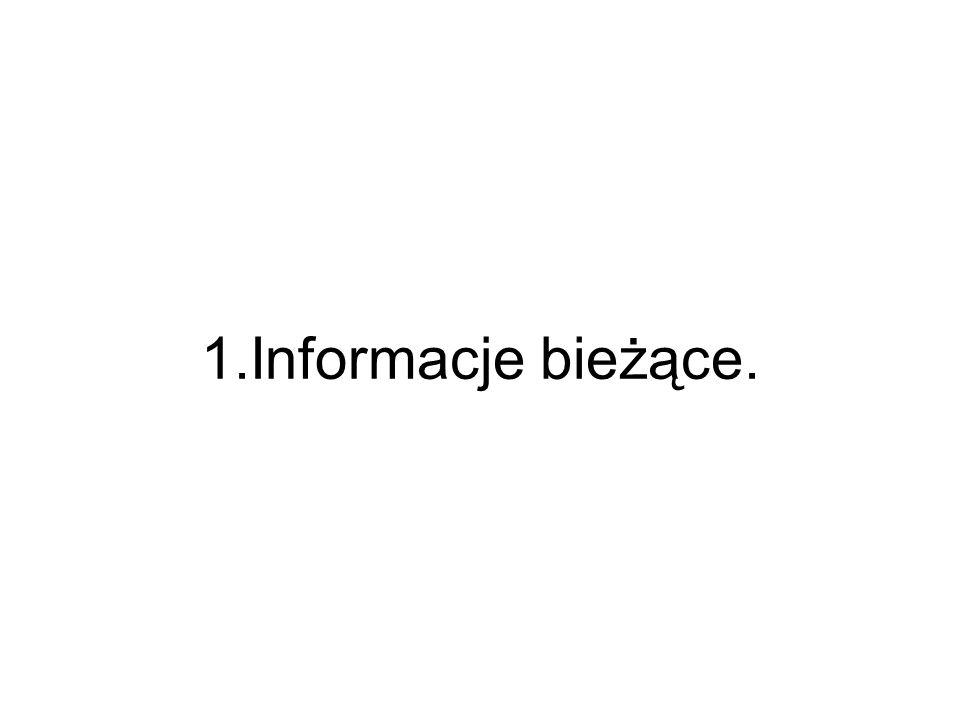 1.Informacje bieżące.