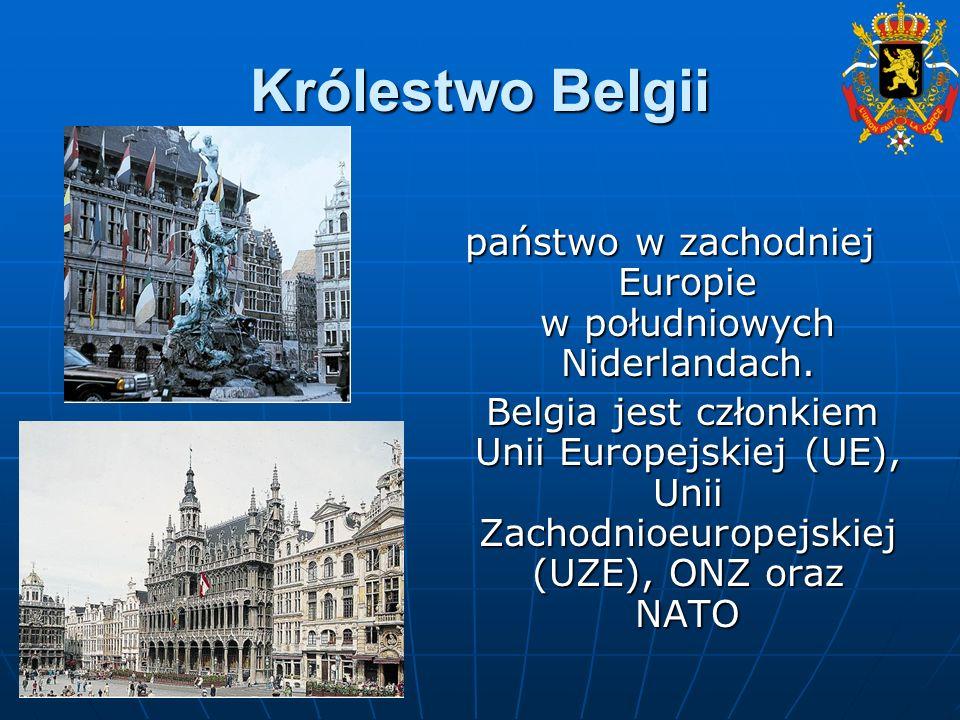 Mapa Belgii Stolicą Belgii jest Bruksela, która jest jednocześnie stolicą Unii Europejskiej Powierzchnia: 30,5 tys.