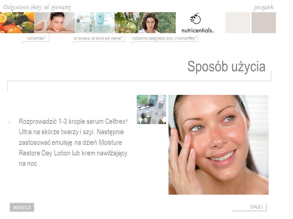 Odżywianie skóry od zewnątrz co sprawia, że skóra jest piękna?codzienna pielęgnacja skóry z nutricentials nutricentials początek DALEJ WSTECZ Sposób u
