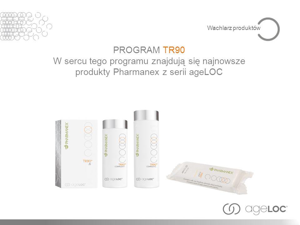 PROGRAM TR90 W sercu tego programu znajdują się najnowsze produkty Pharmanex z serii ageLOC Wachlarz produktów