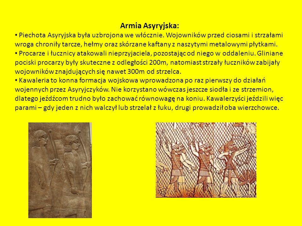 Armia Asyryjska: Piechota Asyryjska była uzbrojona we włócznie.