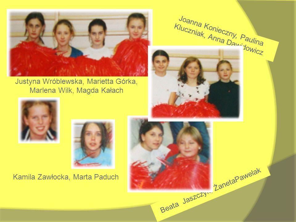 Joanna Konieczny, Paulina Kluczniak, Anna Dawidowicz Justyna Wróblewska, Marietta Górka, Marlena Wilk, Magda Kałach Kamila Zawłocka, Marta Paduch Beat