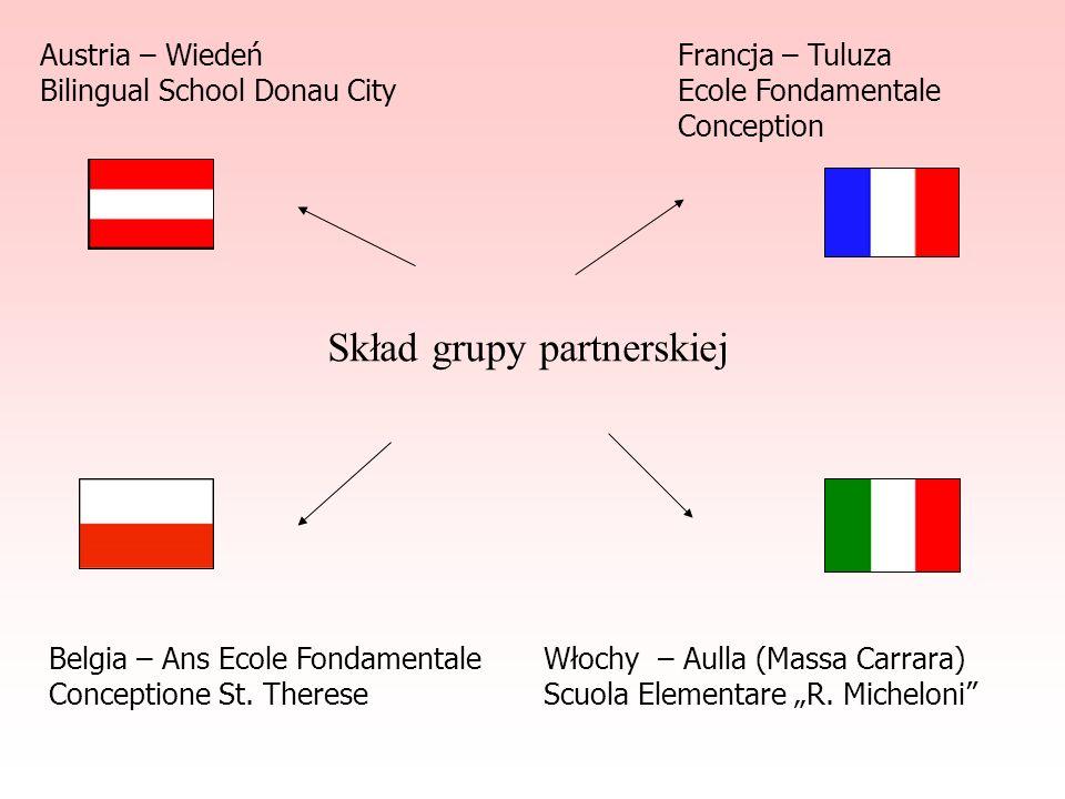 Austria – Wiedeń Bilingual School Donau City Francja – Tuluza Ecole Fondamentale Conception Belgia – Ans Ecole Fondamentale Conceptione St.