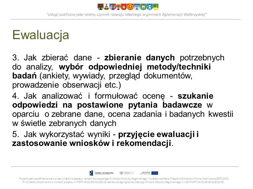 Usługi publiczne jako istotny czynnik rozwoju lokalnego w gminach Aglomeracji Wałbrzyskiej Ewaluacja 3.