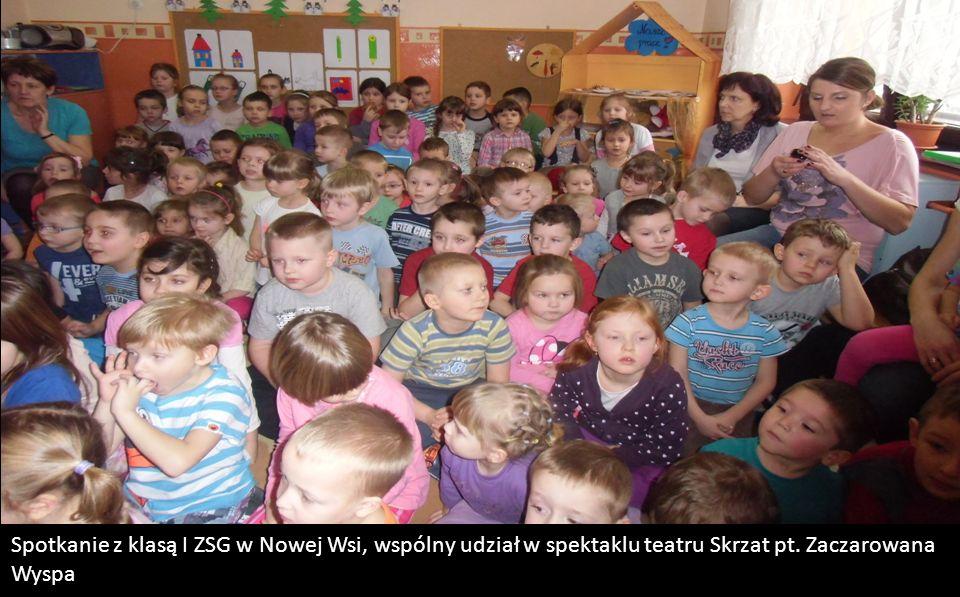 Spotkanie z klasą I ZSG w Nowej Wsi, wspólny udział w spektaklu teatru Skrzat pt. Zaczarowana Wyspa
