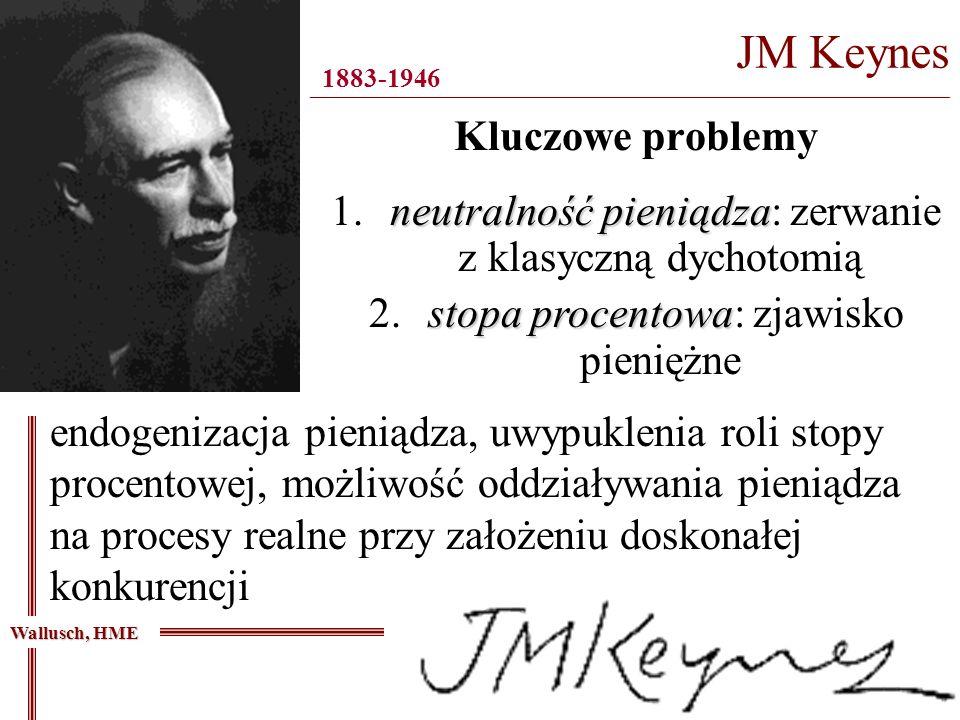 Kluczowe problemy JM Keynes ________________________________________________________________________________ 1883-1946 endogenizacja pieniądza, uwypuk