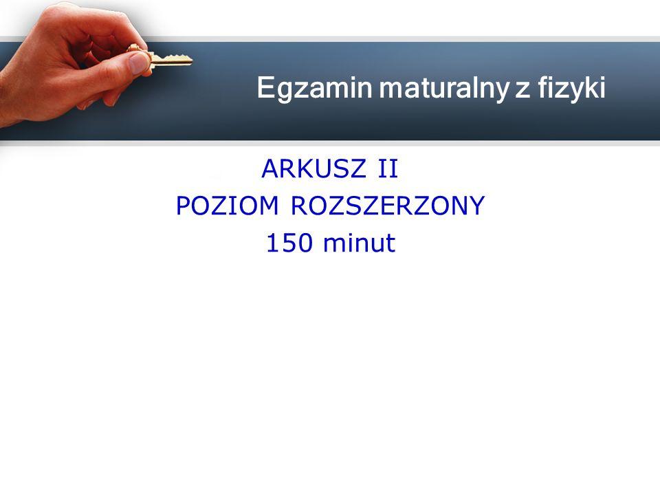 ARKUSZ II POZIOM ROZSZERZONY 150 minut
